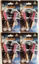 Fireflys LED *4 PACK* 8 PINK Bike Car Tire Wheel Valve Cap USA SELLER SHIPS FAST