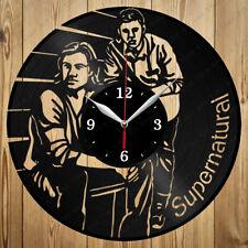 Vinyl Clock Supernatural Handmade Original Gift Home Art Decor Vinyl Wall Clock