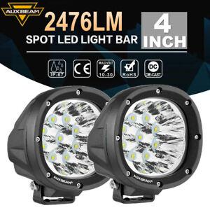 "AUXBEAM 4"" Inch LED Work Lights Bar Roof Bumper SPOT Driving Side Fog Lamps 5"""