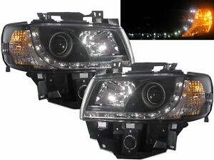 Caravelle T4 96-03 FACELIFT Projector LED R8Look Headlight BK for Volkswagen LHD