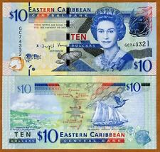 Eastern East Caribbean, $10, ND (2016) , P-New, UNC > Upgraded