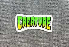 CREATURE Logo Skateboard Sticker small 2in si