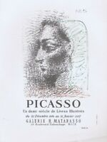 Pablo Picasso Galerie H Matarasso 1956-57 Vintage Poster Offset Lithograph 1964