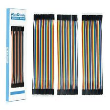 Rexqualis 120pcs Breadboard Jumper Wires 20cm Length Dupont Wire Kit 40pi New