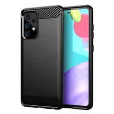 Schutzhülle für Samsung Galaxy A52 5G Case Carbon Look schwarz Bumper Cover