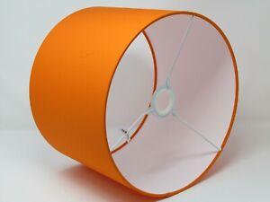 Lampshade Bright Orange Cotton Drum Light Shade