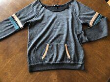 Derek Heart Wide Collar Sweatshirt Size L NEW