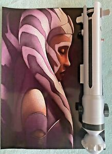 1:1 Scale - 3D Printed Ahsoka Tano Lightsaber Hilt Cosplay Prop/Collectable