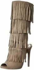 Qupid Women's Glee-168 Western Boot Black Taupe Suede Size 8.5