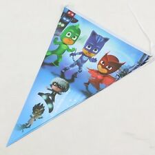 PJ MASK FLAG BANNER BUNTING PJ MASK PARTY SUPPLIES (10 PCS FLAG)