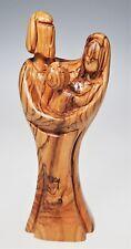 Carved Olive Wood Nativity Baby Jesus Mary Joseph 7.5� Figurine Holiday Christma