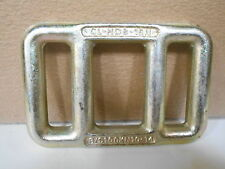 """Lot of 5  Steel One Way Strap Lashing Buckles 4 3/8"""" X 2 7/8"""" X 1/2"""" Thick"""