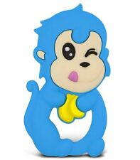 Zoo Beast Baby - Playful Baby Blue Monkey with Banana - BPA Free Silicone...