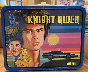 1982 Vintage Thermos Universal City Studios Knight Rider Metal Lunchbox