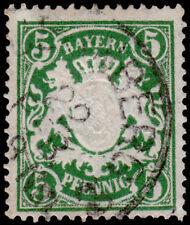 Germany - Bavaria Scott 39 (1876) Used H F-VF, CV $16.00 B
