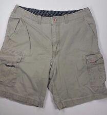 Transnine Cargo Shorts Sz 36 Khaki Tan Brown 100% Cotton Mens