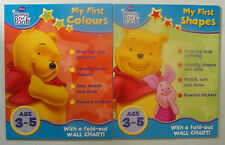 Winnie the Pooh - Activity Books with Stickers - Shapes & Colours Set - ages 3+