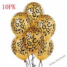 LEOPARD SPOT PRINT BALLOONS X 10 SAFARI ZOO JUNGLE FARM ANIMAL PARTY DECORATION