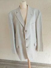 "Vintage C&A Men's 44"" beige Linen mix blazer.  FAST POSTAGE"