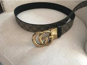 Authentic Gucci Reversible Supreme GG Belt Size 95cm 32-34 waist
