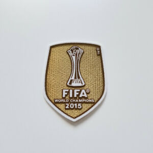 FC Barcelona 2015 UEFA World Champions gold patch Messi Suarez De Jong