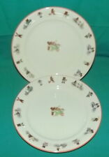Royal Copenhagen Julius Bear Plate red rim 2 plates