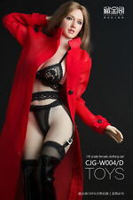 1/6 Female Wind coat Red Clothes & Belt F 12'' PH JO UD Body Figure Toy