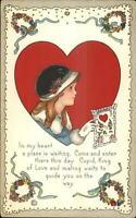 Valentine MEP Margaret Evans Price 515B Girl in Hat c1910 Postcard