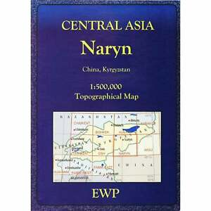 Naryn topographic map Central Asia Kyrgyzstan China hiking trekking driving