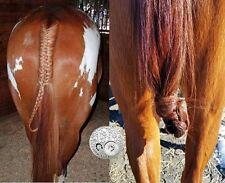 "DOUBLE CHESTNUT Genuine Horse False Tail 80CM 32"" False Horse Tail EXTENDED"