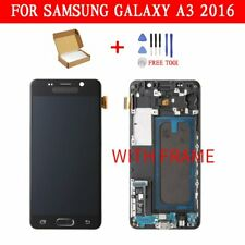 For Samsung Galaxy A3 2016 A310 Screen Display Touch Digitizer + Frame LCD Black