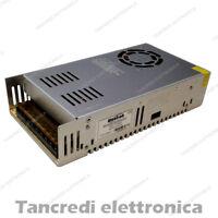 ALIMENTATORE 12V 30A CON VENTOLA SISTEMA DI SICUREZZA CCTV STRIP LED 12VCC 12VDC