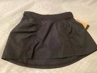 New Girls Champion Black Athletic Skort with Inner Shorts Size M 7-8