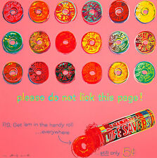 Life Savers from ADS 1985 A1+ by Andy Warhol Pop Art Canvas Print