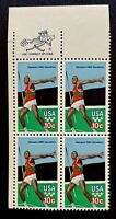 US Stamps, Scott #1790 10c 1979 Summer Olympic Games Zip Block of 4 XF/S M/NH