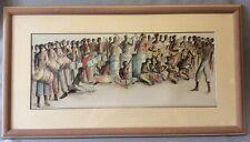 Afrique musicien africain aquarelle et encre 78 cm par 43 cm Dominique Antoine