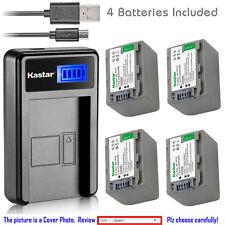 Kastar Battery LCD Charger for Sony NP-FP70 FP71 & Sony DCR-DVD205 DCR-DVD304