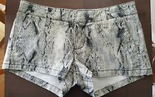 Women's Hurley Jeans Shorts Snake Print Cotton Size 3 Short Cheeky Shorts