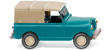WIKING HO scale ~ RHD LAND ROVER ~ FULLY ASSEMBLED PLASTIC SCALE MODEL in BLUE!