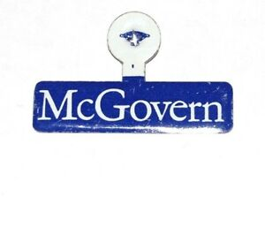 1972 GEORGE MCGOVERN TAB campaign political presidential pinback button election