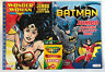 New 3pc Kids DC Wonder Woman & Batman Jumbo Coloring/Activity Books + 24 Crayon