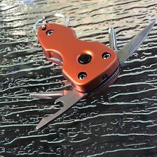 Multi-Tool with LED Light Key Chain - Blue, Silver, Orange, Black Colors