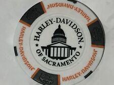 Harley Poker CHIP   .HD of SACRAMENTO  SACRAMENTO, CA  WHITE