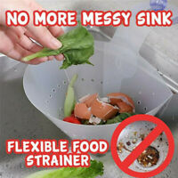 Kitchen Sink Strainer Filter Drain Food Catcher Foldable Anti-Blocking Device