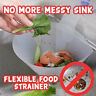 For Kitchen Filter Self-standing Foldable Sink Stopper Anti-Blocking Device UK