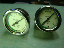 Old, Steam Punk Pelton Gauges, Nickel Plated Medical Grade, Sterilizer Equipment