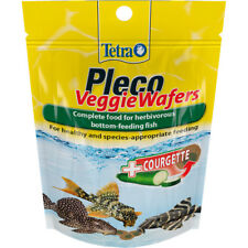 Tetra Pleco Veggie Wafers 42g Complete Food Bottom Feeders with Courgette