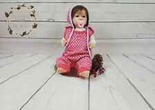 Romper Bonnet Outfit Baby Girl Boy Jumpsuit Hat Clothing 3-6 Months Polka Dots