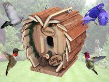 BIRD HOTEL HOME HANGING WOODEN HOUSE HOME NESTING BOX SPOT STATION FEEDER GARDEN