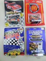 Matchbox & Racing Champions 1:64 NASCAR Lot Of  4 Die Cast Diecast Vintage B15